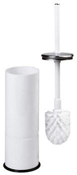 Mediclinics wit staal toiletborstelhouder met borstel Mediclinics 13198