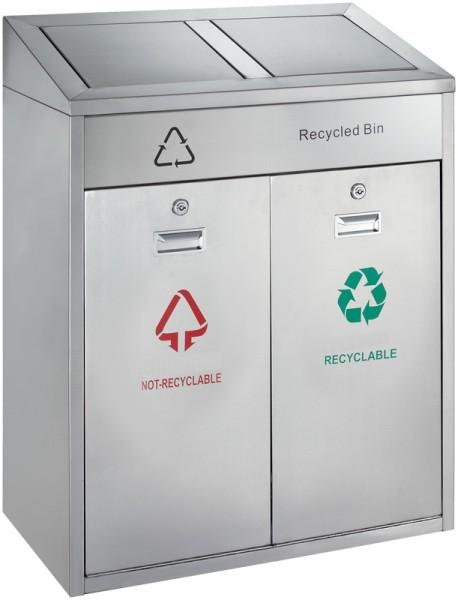 Recycling afvalbak outdoor 2x21 ltr 31667802
