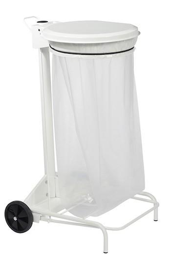 Mobile Collecroule vuilnisbak 110 L leverbaar in RvS of 6 kleuren staal van Rossignol Rossignol 57330,57331,57333,57334,57370,56501