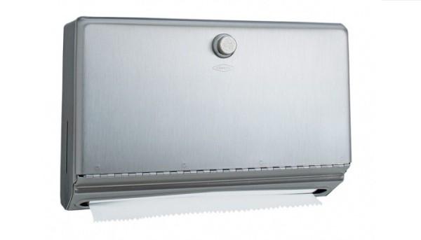 B-2621 oppervlakte papieren handdoek dispenser van satijn geborsteld roestvrij staal Bobrick B-2621