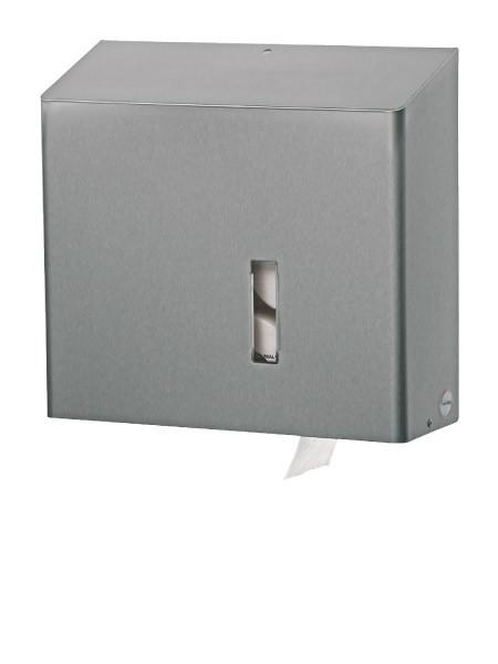 Toiletpapier dispenser voor 4 standaard WC-rollen met slot en anti vadalisme functie Ophardt Hygiene SanTRAL MRU 4 - 319800,1538