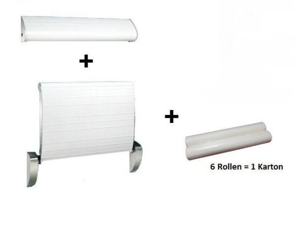 SET Dan Dryer babyverschoontafel met gordel, papierrolhouder + 6 papierrollen Dan Dryer A/S 659,656,657
