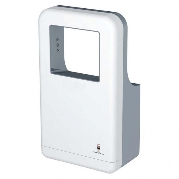 AD hand dryer made of white, anti-bacterial ABS plastic with 1200W from Dan Dryer Dan Dryer A/S 253