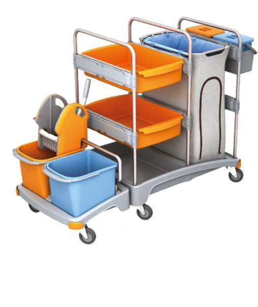 Splast mobiel systeem voor de reiniging - met avfalzakhouder, wringer en emmers Splast TSZ-0004