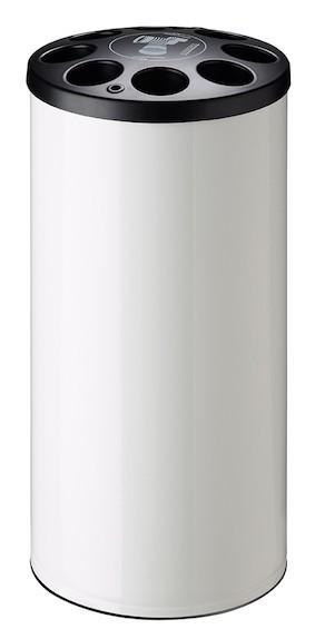 Multigob bekerinzamelaar met of zonder afval container in wit staal van Rossignol Rossignol 56212,56215