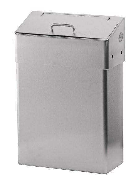 RVS Hygiënische vuilnisbak 10L of 18L met schuif deksel Ophardt Hygiene SanTRAL HBU - 1413344,1413345,909700,852600
