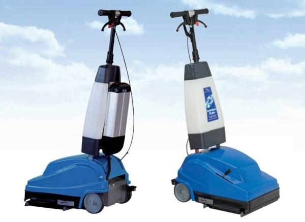 CIMEL Turbolava Plus 35 blauwe vloer scrubber - elektrisch of met lithium batterij Cimel-turbolava Modell:Elektrisch TUPlus35,TUPlus35LI