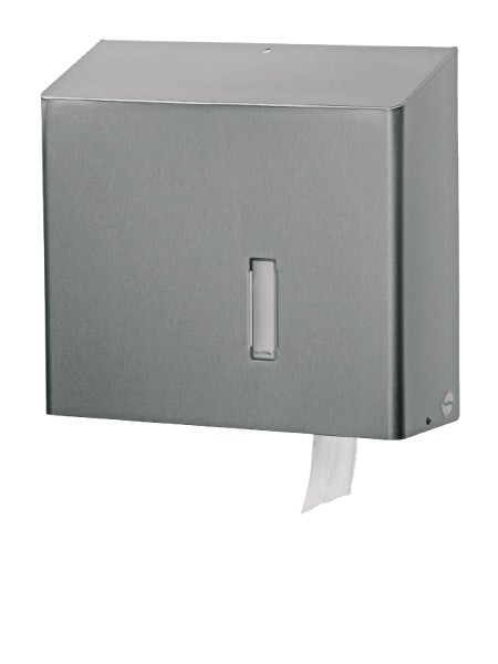 RVS toiletrol dispenser voor grote rollen, Vandalisme bestendig Ophardt Hygiene SanTRAL RHU - 334200,3166
