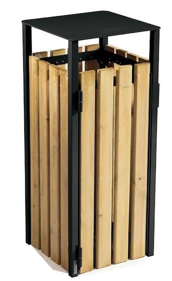 Eden prullenbak 110L gemaakt van staal met corrosiewerende behandeling Rossignol 57876,57877,57878