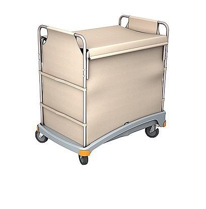 Splast hotelservice trolley in wit met grijze kunststof voet Splast TSB-0001