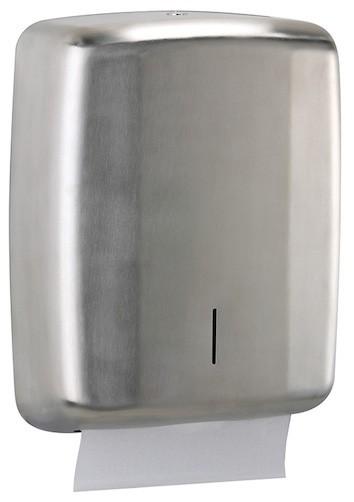 Lensea handdoekjesdispenser gemaakt van roestvrij staal tot 400 handdoekjes Rossignol 52674,52675