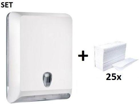 Paper towel dispenser MP830 White Colored Edition + Paper Towels Marplast S.p.A. MP830,10102