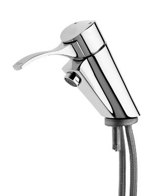 Franke self-closing lever mixer made of brass with adjustable flow time regulator Franke GmbH AQRM170