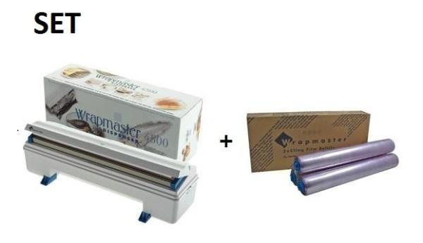 SET Effici'nte Wrapmaster WM4500 dispenser en Wrapmaster 4500 vershoudfolie Wrapmaster 63M91,18C15