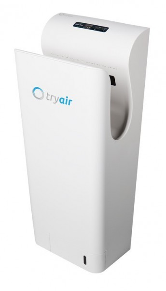 Hight speed handdryer white/silver tryair bacteria-free drying and innovative tryAIR TA20150