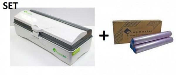SET Wrapmaster WM duo dispenser voor nauwkeurige handling en vershoudfolie 4500 Wrapmaster 63M50,18C15