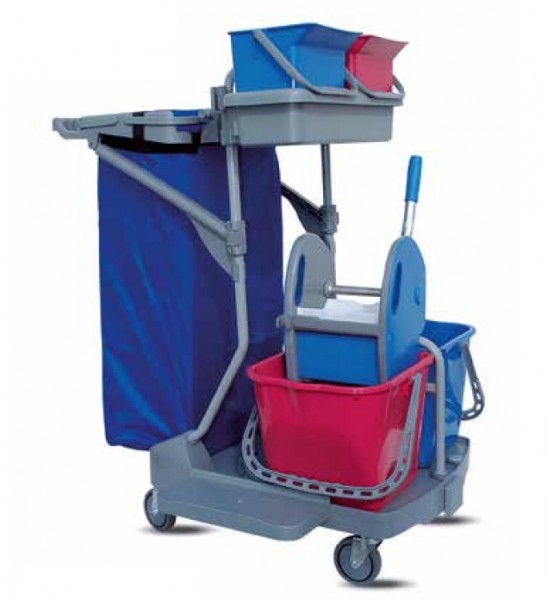 IPC Euromop Top Evolution I cleaning trolley with trash bag holder and 4 buckets IPC Euromop CARR00400