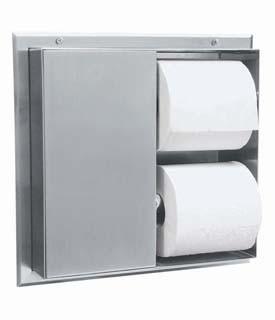 Bobrick B-386 Partition-Mounted Multi-Roll Toilet Tissue Dispenser Bobrick B-386