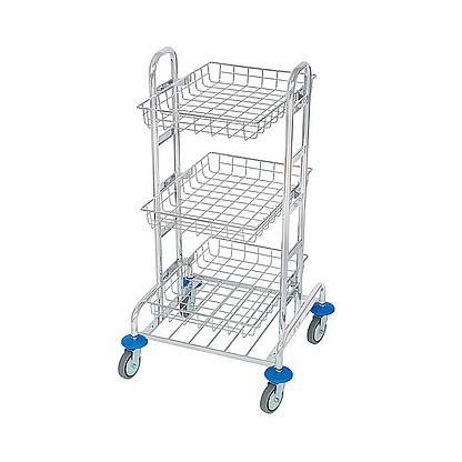 Splast chroom MIDI trolley met 3 manden - afvalzakhouder is optioneel Splast MID-0001,MID-0002
