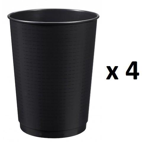 Set van 4 x 40L Peps prullenbaken gemaakt van polypropyleen in zwart van Rossignol Rossignol 59484