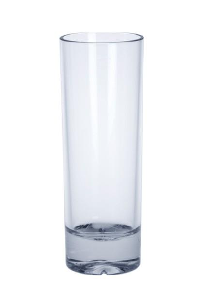 SET 6 stuks Longdrink Glas 0,2l kristal helder hoogwaardig herbruikbaar kunststof - Schorm GmbH 9091