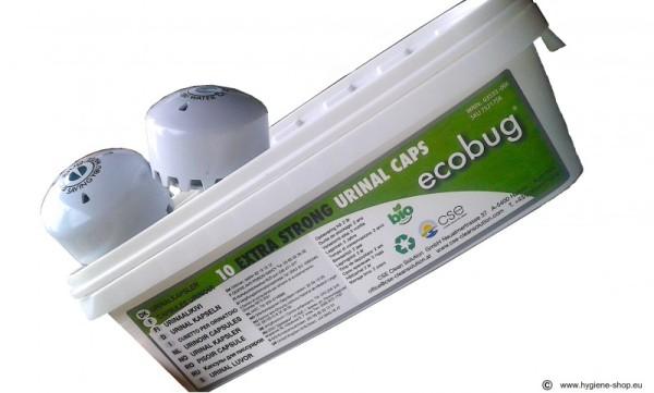 Waterless urinal-system with microorganisms - EcoBug¨ Cap - 4 set Ecobug E1001,E1002