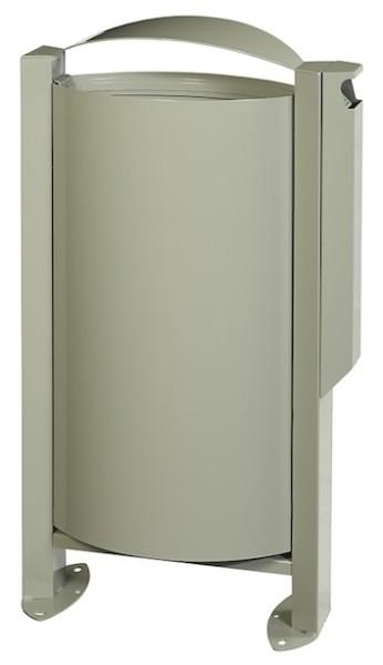 Arkea vuilnisbak 60L met voet en vergrendelingssysteem met asbak 3L van Rossignol Rossignol 56525,56528,56529,56250