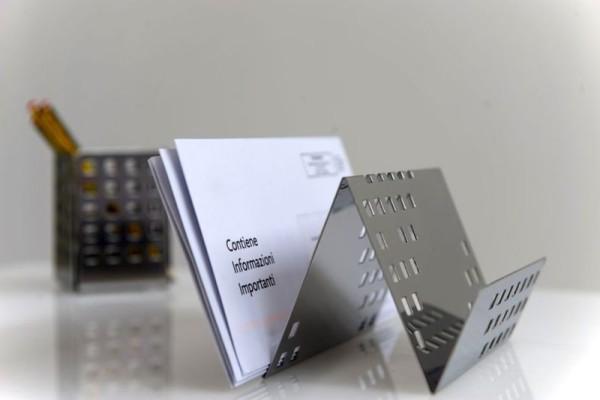 Graepel G-Line Pro QUADROTTO memo houder gemaakt van gepolijst roestvrij staal G-line Pro K00016130