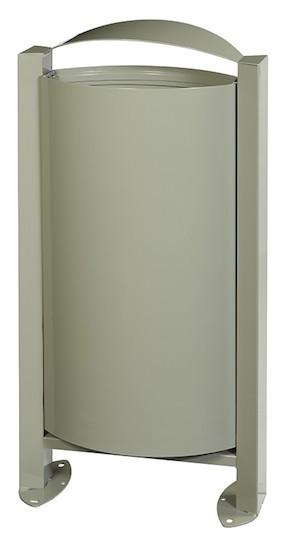 Arkea vuilnisbak 60L met voet en vergrendelingssysteem zonder asbak van Rossignol Rossignol 56320,56323,56324,56247