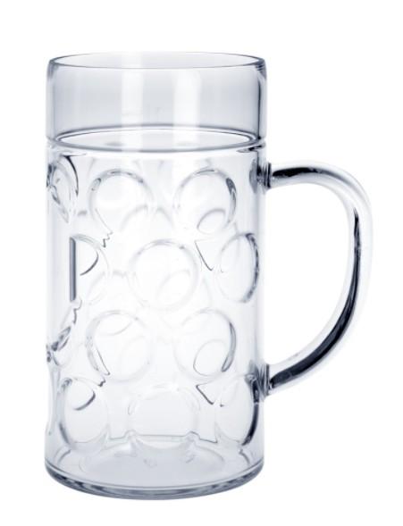 SET 20 Stuks Bier pul 1L SAN kristal helder hoogwaardig kunststof - Schorm GmbH 9058