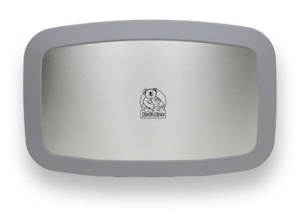Koala horizontale grijze babyverschoontafel met gordel en roestvrij front KB200-01SS Koala Kare producten KB200-01SS