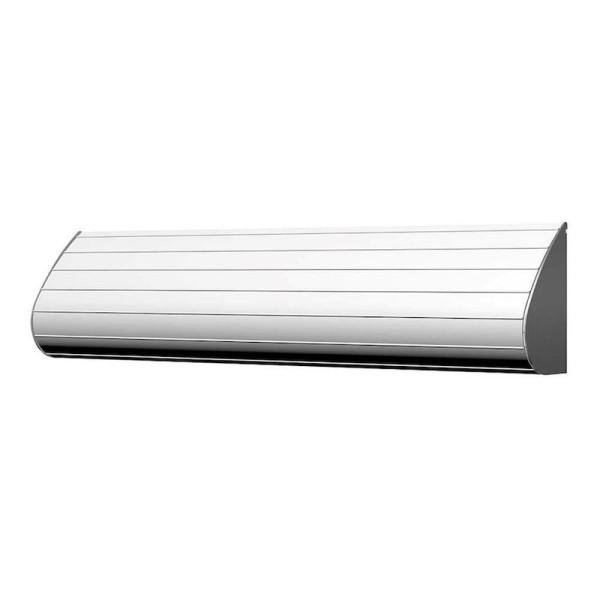 Rolhouder van witgelakt aluminium en geborsteld roestvrij staal van Dan Dryer Dan Dryer A / S 656