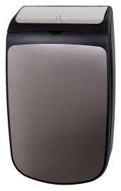 Zwart RVS hygiene bak 25 L voor wandmontage van PlastiQline Exclusive PlastiQ-line-exclusive 5742