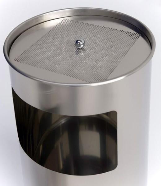 Graepel G-Line Pro LIVIGNO GIANT outdoor staande asbak gemaakt van geborsteld RvS 1.4301 G-line Pro K00031950