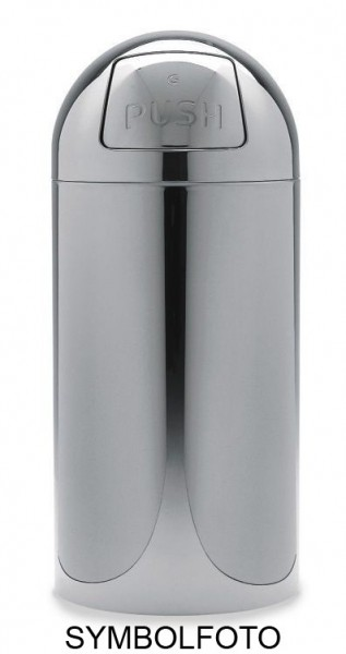 Graepel G-Line Pro Octopush Wastebin with tilting door - Painted steel silver G-line Pro