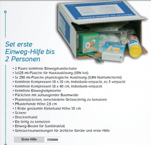 Eerste-hulp set geschickt voor de medicijnkastje RB000210 3720000