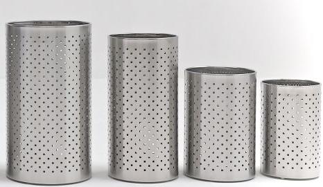 Graepel G-Line Pro FORO QUADRO design prullenbak van geborsteld roestvrij staal 1.4016, 4 verschillende maten G-line Pro K00021201,K00021203,K00021205,K00021207