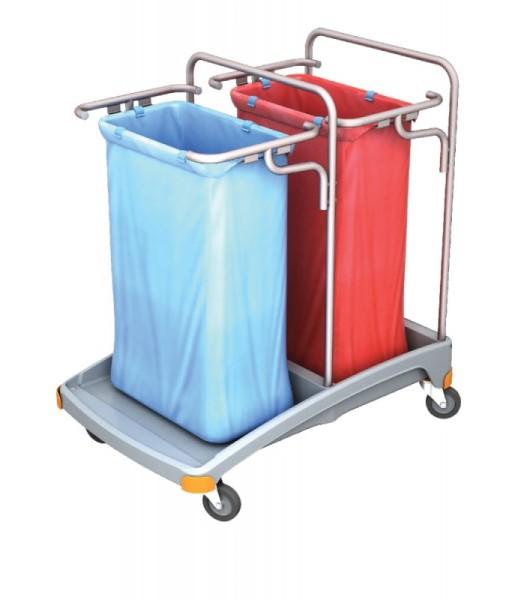 Splast dubbele plastic afval trolley 2 x 120l - deksel is optioneel Splast TSO-0005,TSO-0006