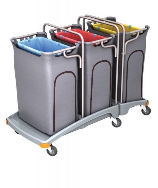 Splast triple afval trolley 3 x 120l met betrekking tot - deksel is optioneel Splast TSO-0011,TSO-0012