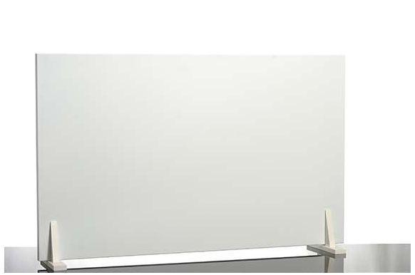 Set- Muurverwarmings paneel in wit met aluminium frame inclusief houten benen van Elbo Therm Elbo therm EA 650,HolzfŸ§e wei§ 90¡