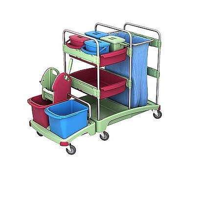 Splast schuurspons- trolley met afvalzakhouder 120l Splast TSZA-0001,TSZA-0002