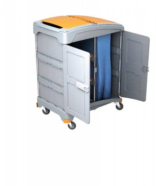 Splast mobiele natte reiniging systeem met 2 bakjes en een afvalzakhouder 120l Splast TSZZ-0003