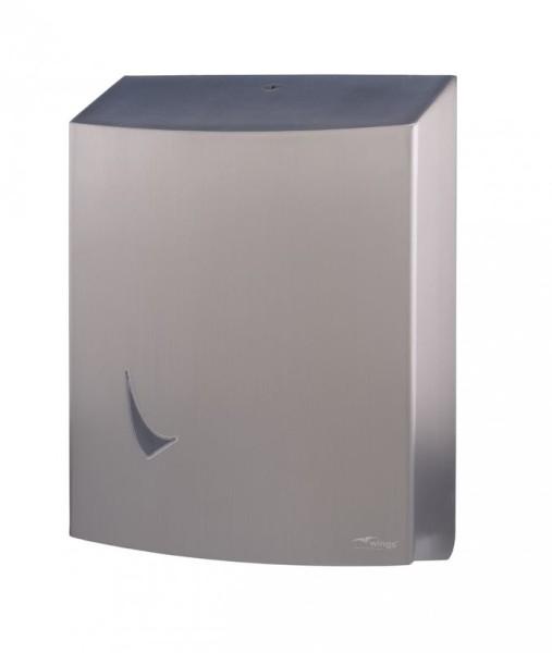Jumbo roll dispenser met anti-fingerprint coating van Wings Wings 4137