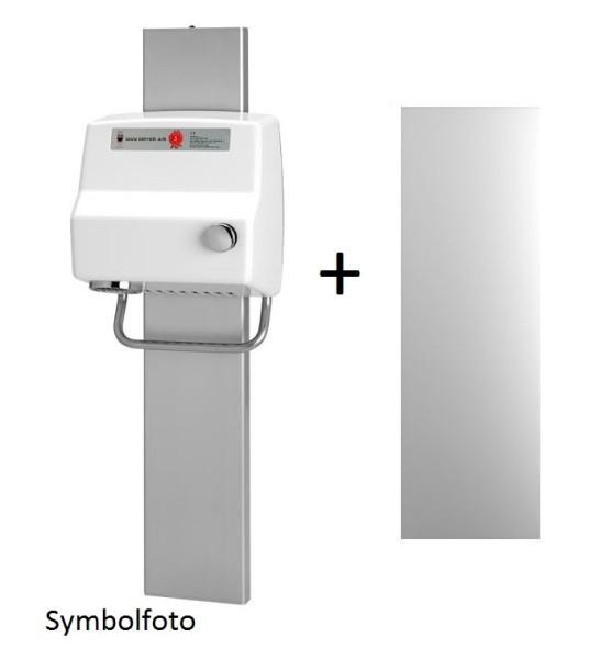 Dan Dryer hand- respectively hair dryer AA + height adjustment glide + mirror in Set Dan Dryer A/S 100,645,64515