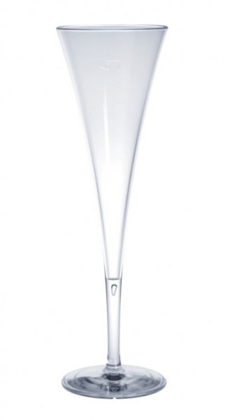 SET 12 stuks champagneglazen van kunststof 0,1l kristalhelder lange levensduur - Schorm GmbH 9035