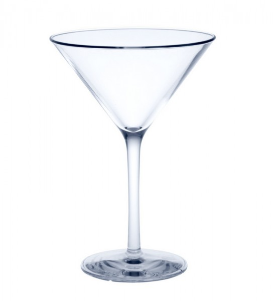 Herbruikbaar Martini Glas kristalhelder van plastic ca. 0,1l SAN Schorm GmbH 9087