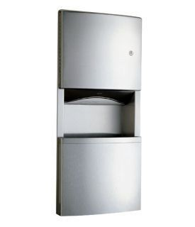 Bobrick recessed paper towel dispenser and waste receptacle 11.5l B-4369 Bobrick B-4369