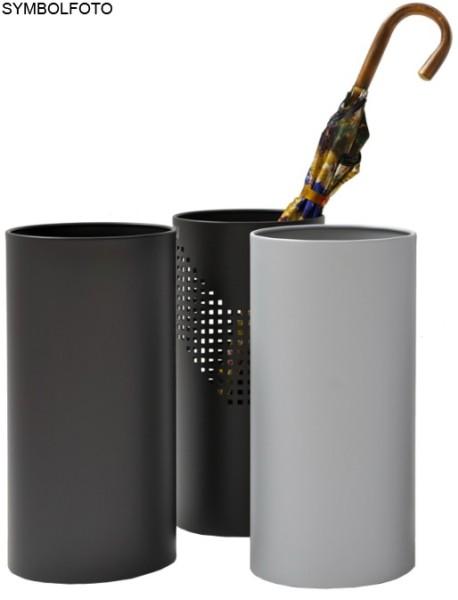 Paraplubak met wateropvang in italiaans design zwart gelakt staal Graepel G-Line Pro G-line Pro K00016682