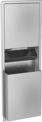 Franke papieren handdoekdispenser- en afvalbakcombinatie gemaakt van RVS Franke GmbH RODX602E