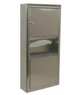 BOBRICK B-3699 opbouw combi vuilnisbak 7,6L met papieren handdoekdispenser Bobrick B-3699